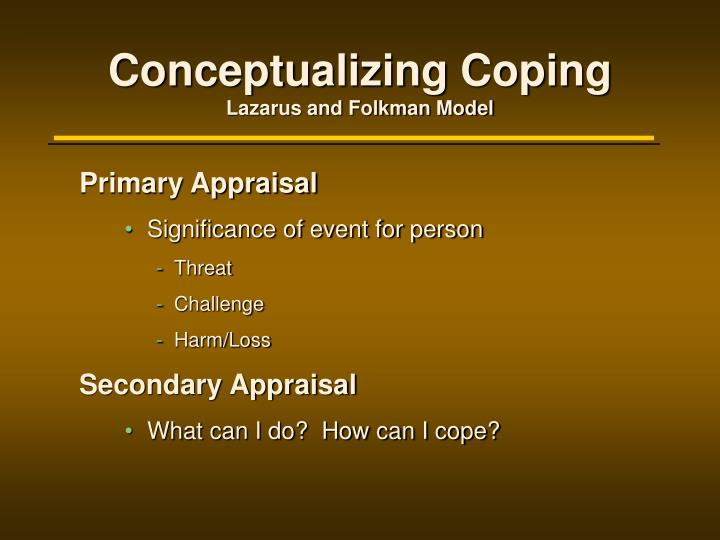 Conceptualizing Coping