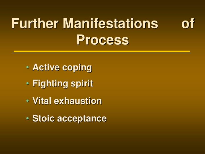 Further Manifestations      of Process