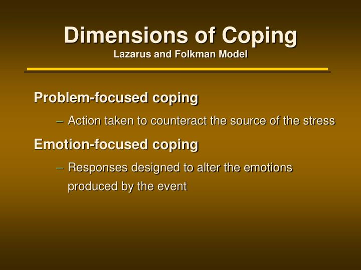Dimensions of Coping