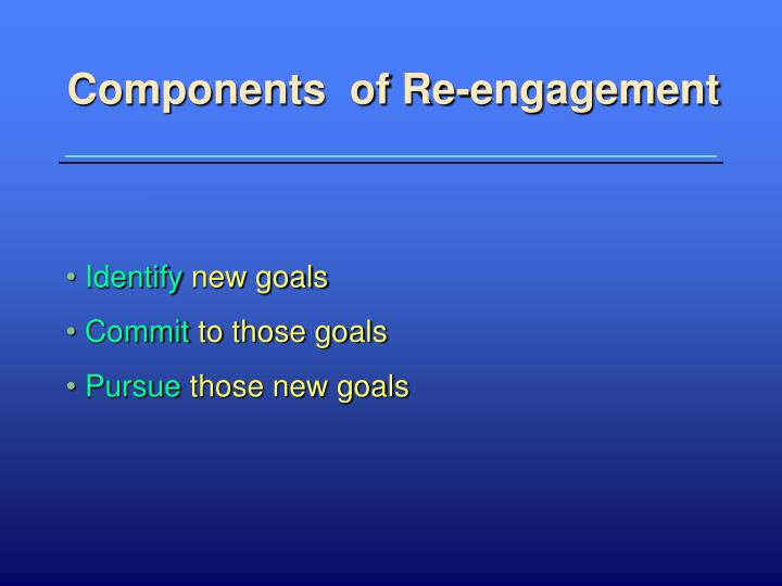 Components  of Re-engagement