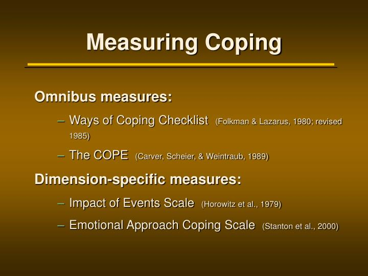 Measuring Coping