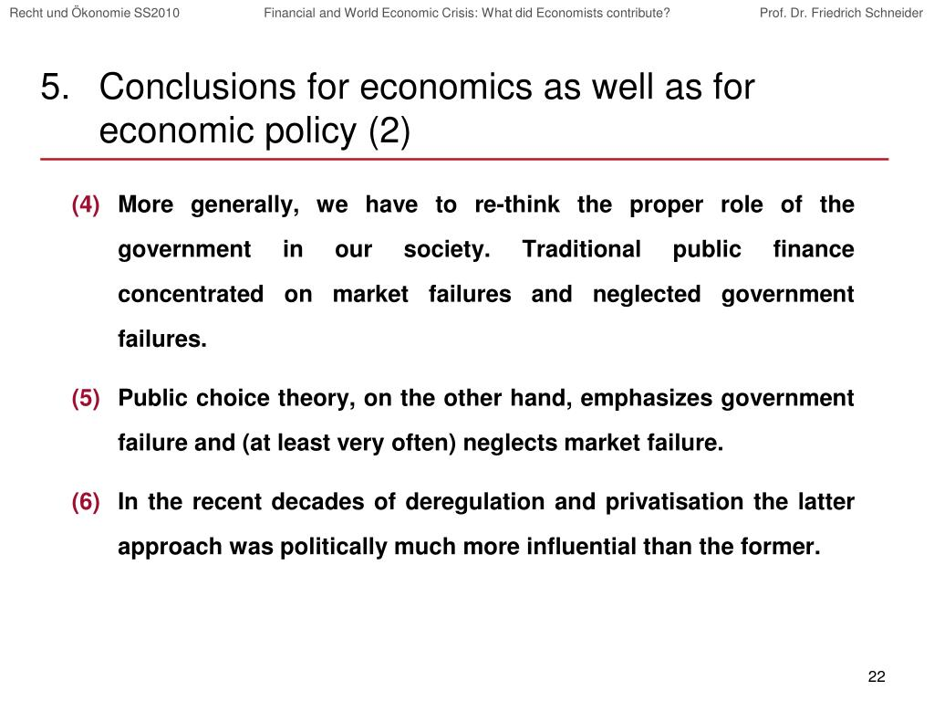Conclusions for economics as well as for economic policy (2)