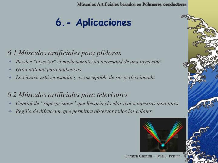 6.- Aplicaciones