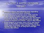 is there a water crisis in the uk11