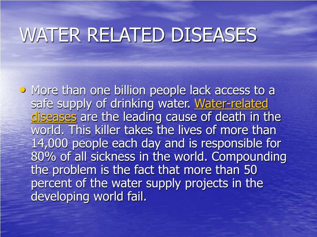 WATER RELATED DISEASES