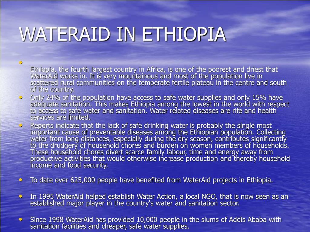 WATERAID IN ETHIOPIA
