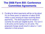 the 2008 farm bill conference committee agreements26