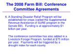 the 2008 farm bill conference committee agreements32
