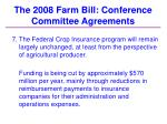 the 2008 farm bill conference committee agreements34