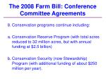 the 2008 farm bill conference committee agreements35
