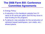 the 2008 farm bill conference committee agreements36