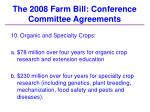 the 2008 farm bill conference committee agreements37