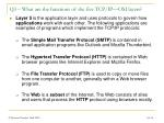 q3 what are the functions of the five tcp ip osi layers16