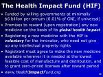 the health impact fund hif