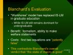 blanchard s evaluation
