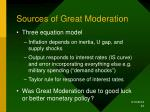 sources of great moderation