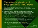 theoretical implications of price stickiness nmc macro