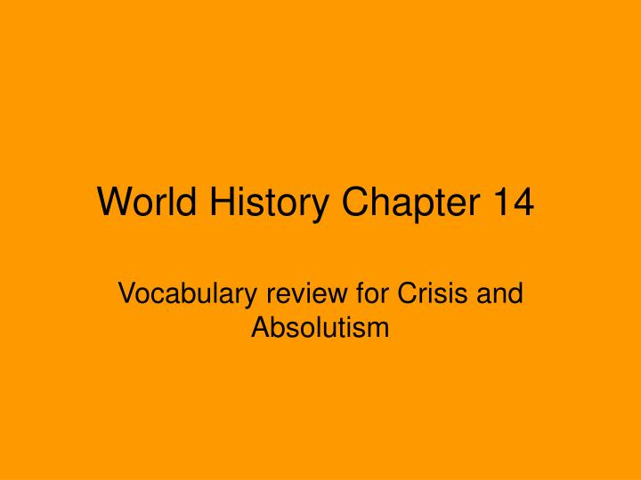 World history chapter 14