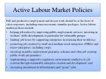 active labour market policies