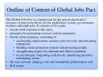 outline of content of global jobs pact