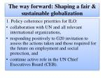 the way forward shaping a fair sustainable globalization