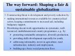 the way forward shaping a fair sustainable globalization14