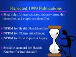expected 1999 publications