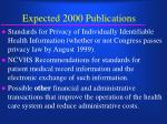 expected 2000 publications