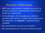 overview of provisions