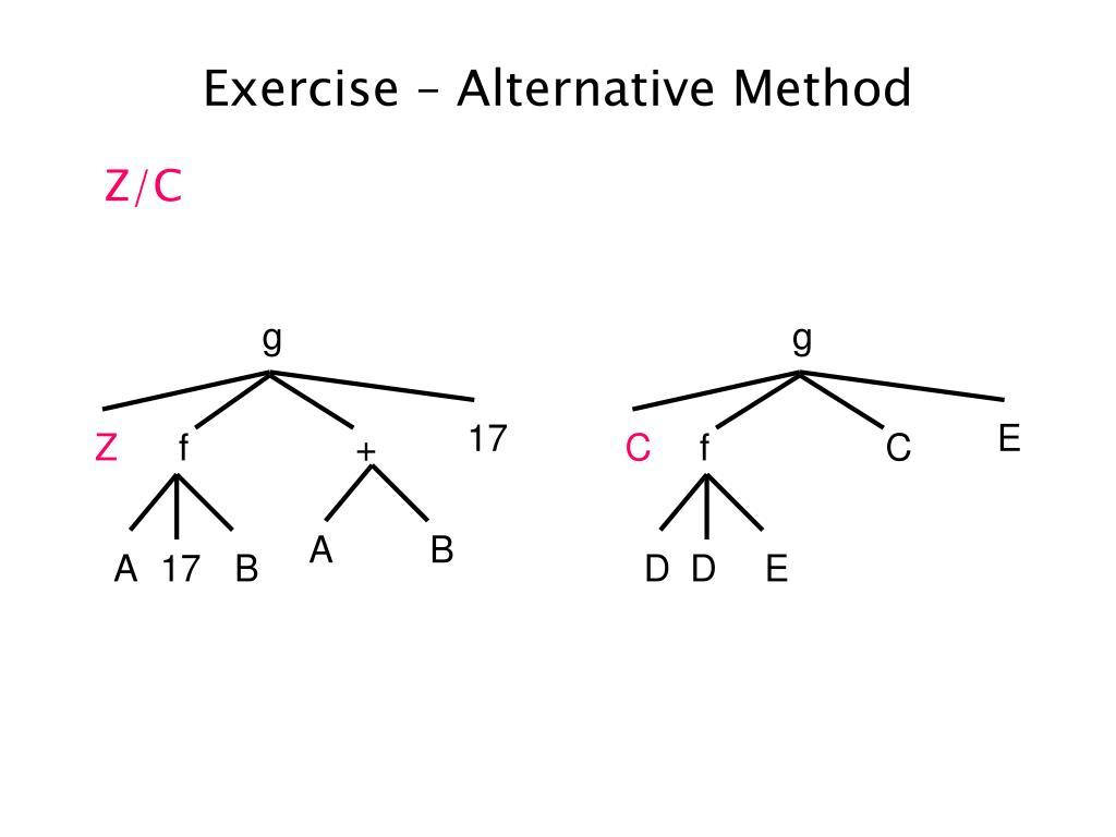 Exercise – Alternative Method