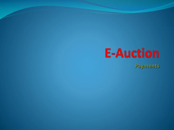 E-Auction