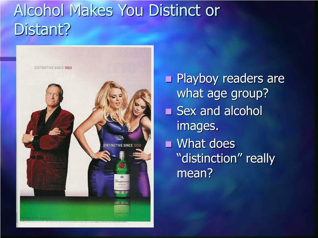 Alcohol Makes You Distinct or Distant?