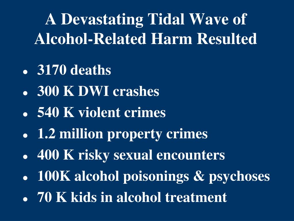 A Devastating Tidal Wave of Alcohol-Related Harm Resulted