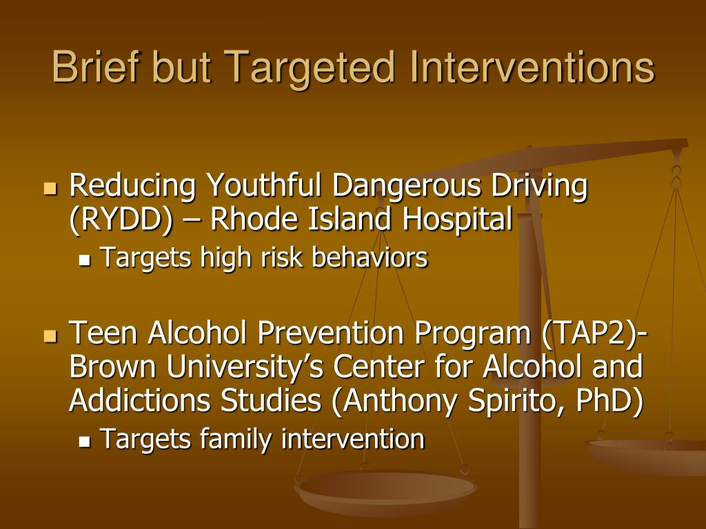 Brief but Targeted Interventions