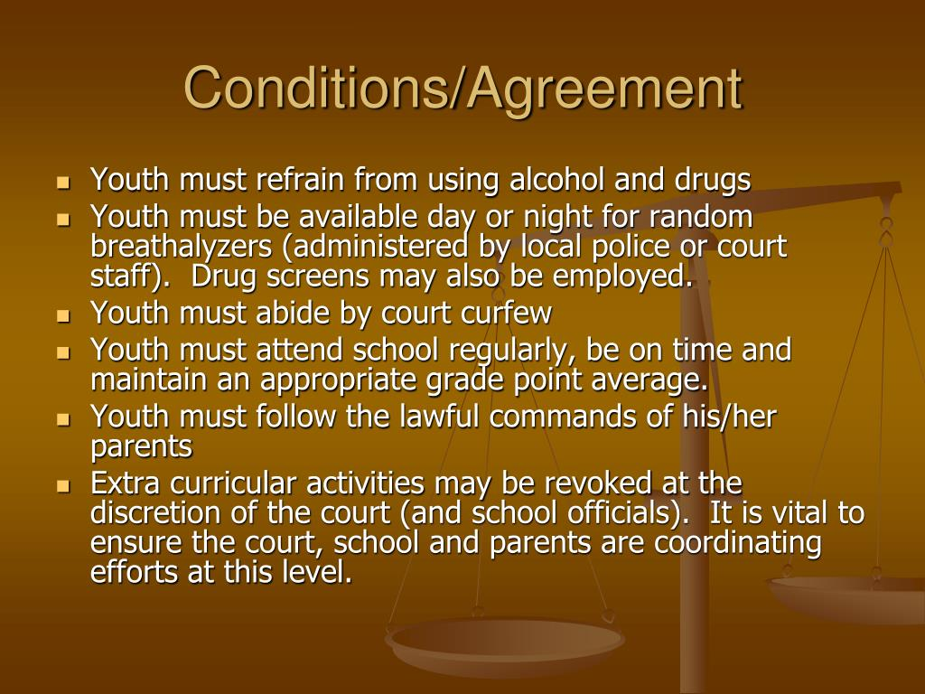 Conditions/Agreement