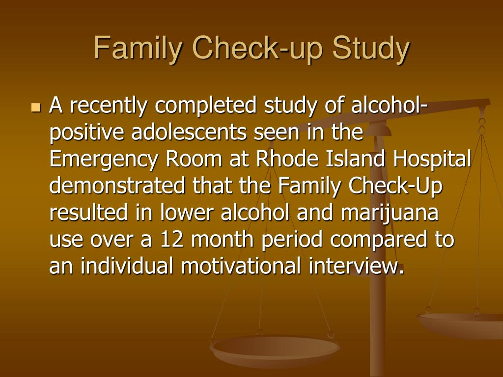 Family Check-up Study