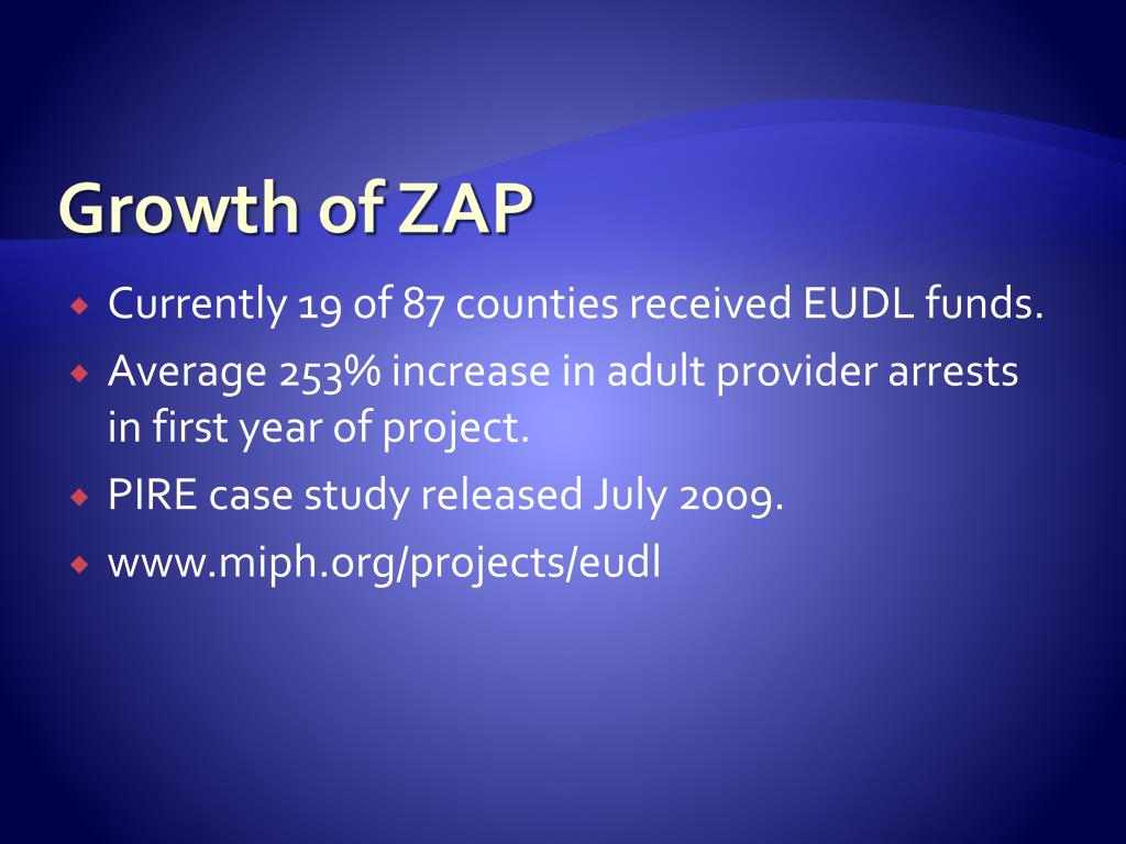 Growth of ZAP