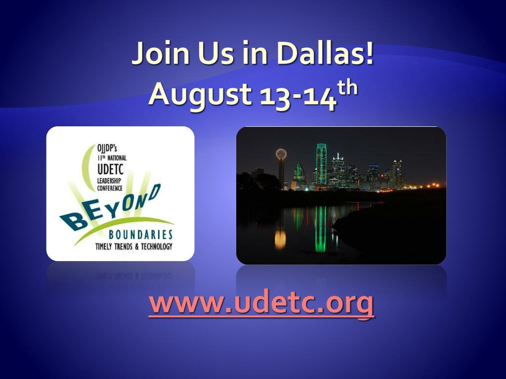 Join Us in Dallas!