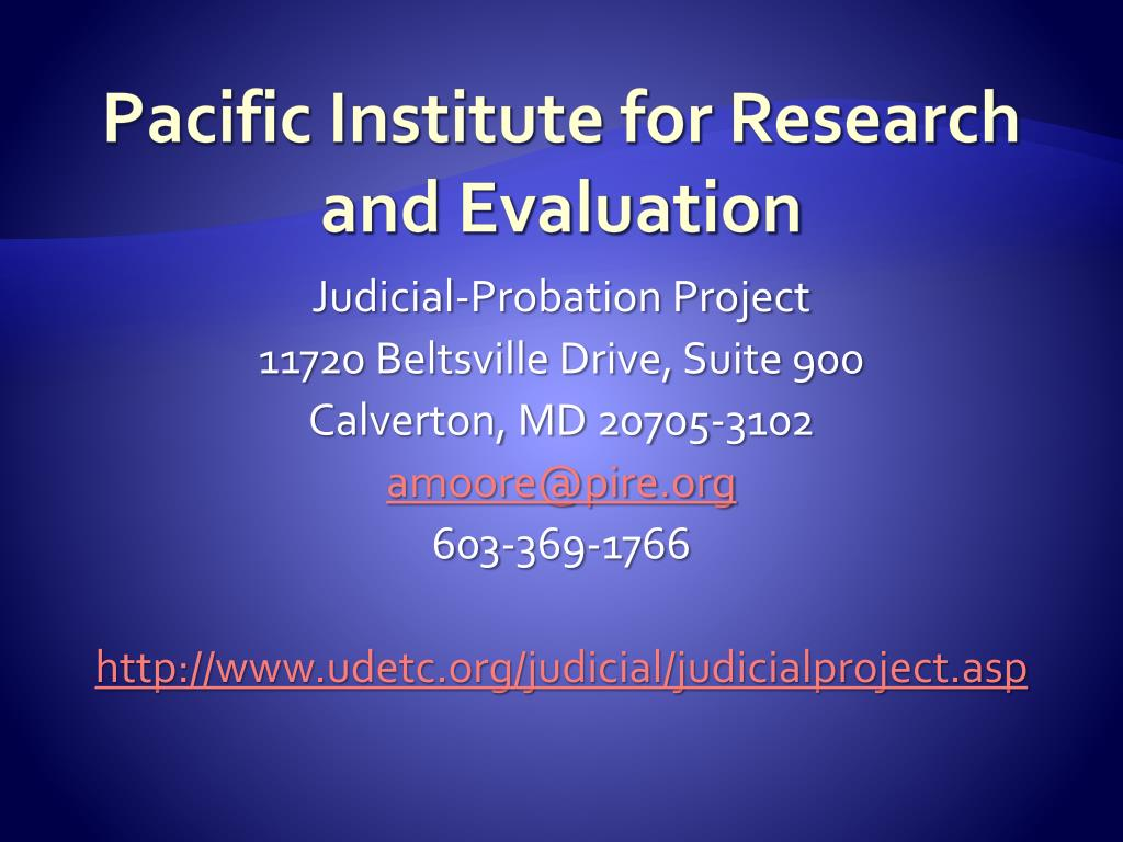 Pacific Institute for Research and Evaluation