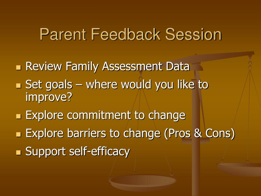 Parent Feedback Session