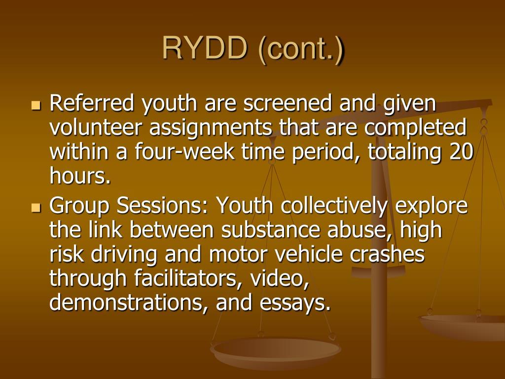 RYDD (cont.)