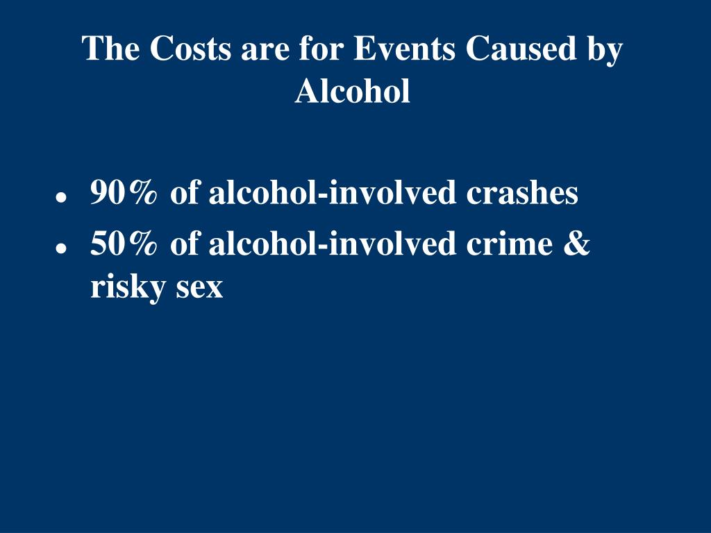 The Costs are for Events Caused by Alcohol