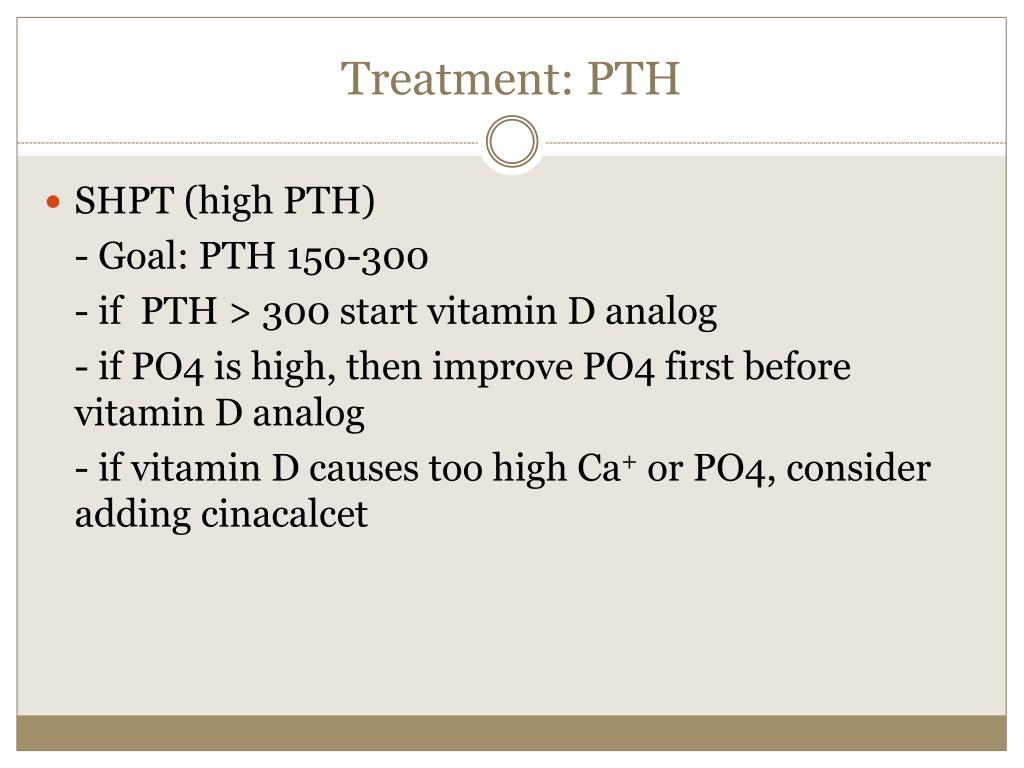 Treatment: PTH