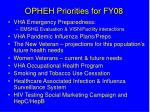 opheh priorities for fy08