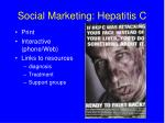 social marketing hepatitis c