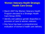 women veterans health strategic health care group