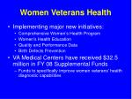 women veterans health