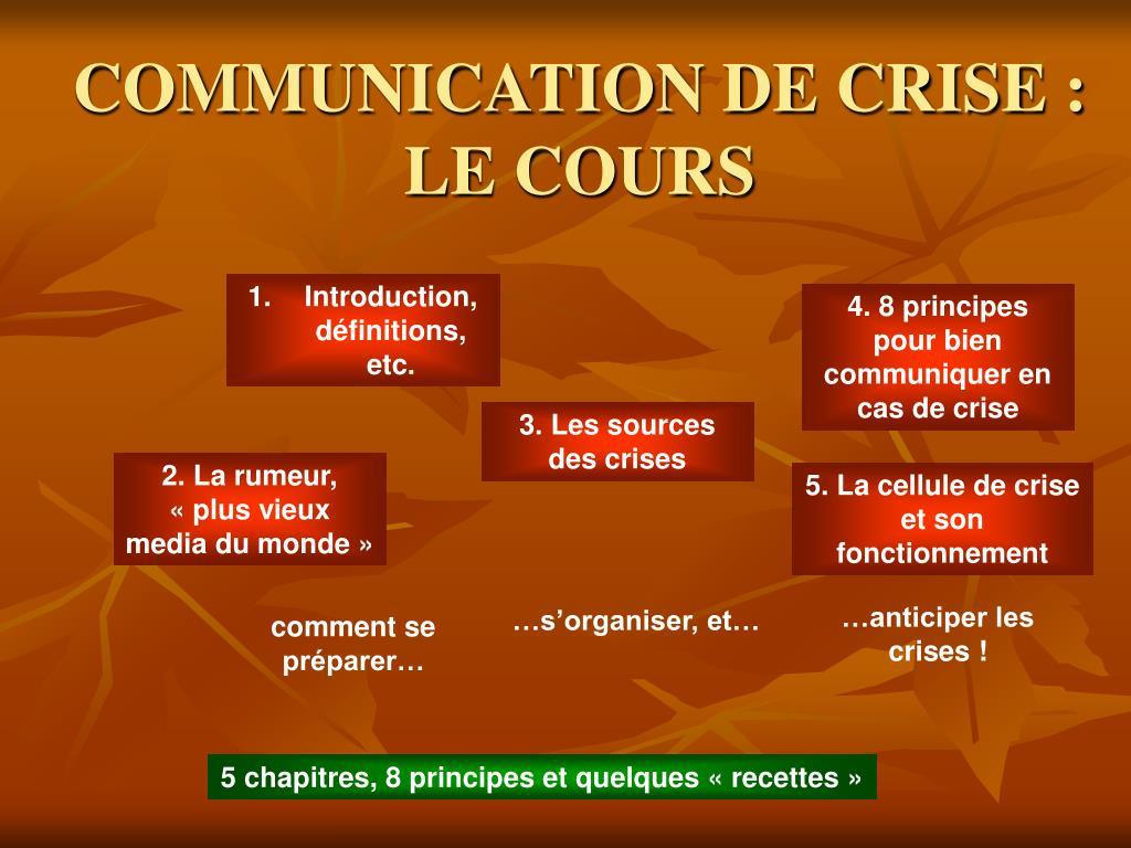 communication de crise le cours l.