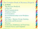 the complete book of business etiquette