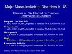 major musculoskeletal disorders in us
